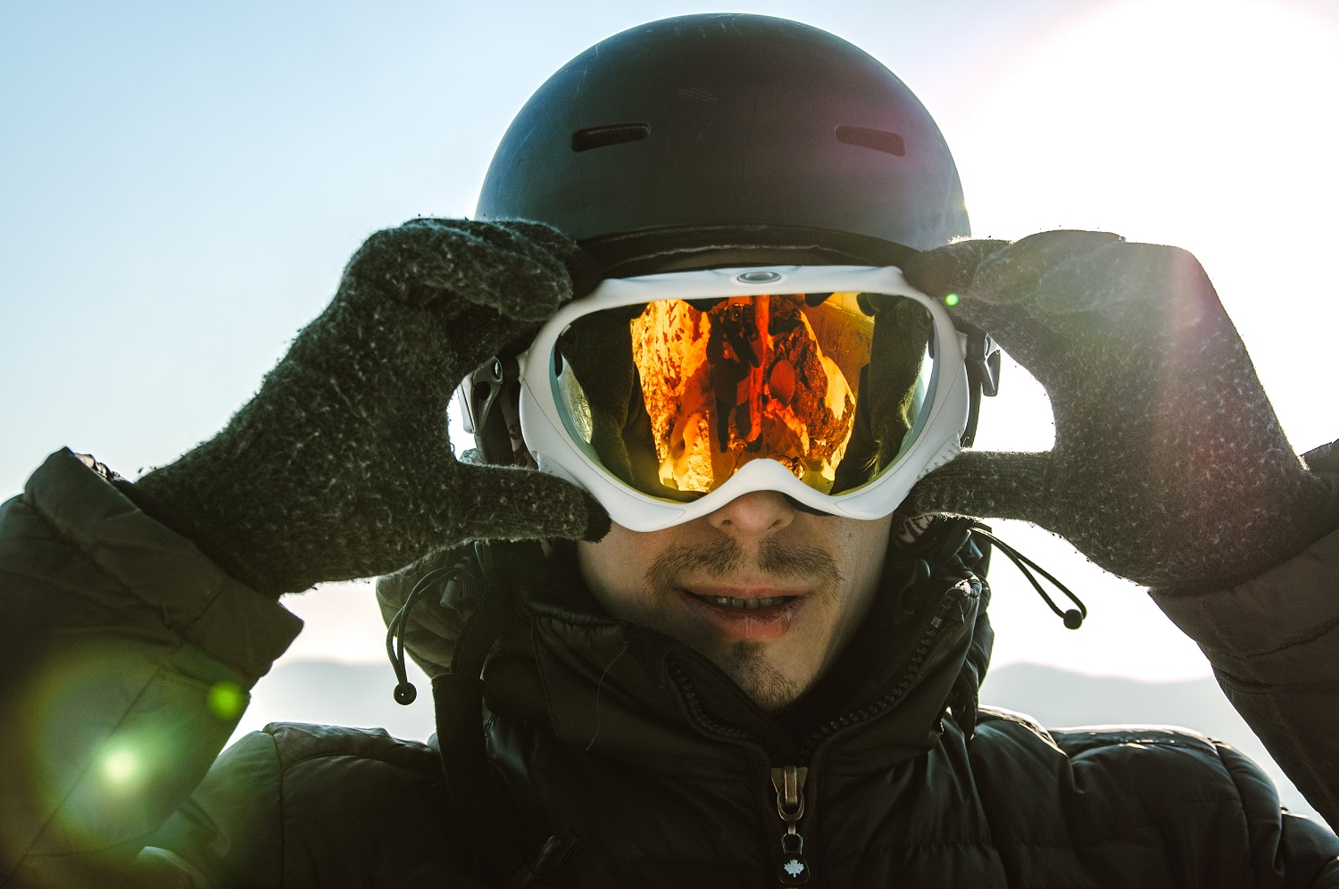 skier with glasses